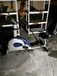 white and blue stationary bike Los Angeles, 91605