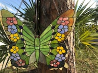 Large stained glass butterfly  Vero Beach, 32966