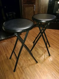 two black metal folding bar stools Frederick, 21701
