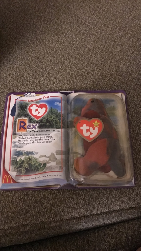 Used TY Rex beanie baby for sale in Fallowfield - letgo 58df9c0ae95c