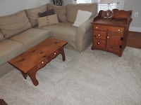 Coffee Table and 2 End Tables- Solid Pine Leesburg