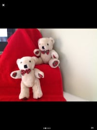 2 Bears with movable arms and legs
