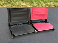 Brand New Stadium (Bleacher) Chairs. $30.00 CASH FOR EACH (FIRM).  Easy carry handle with steel hook