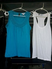 women's two blue and white tank tops Bakersfield, 93313