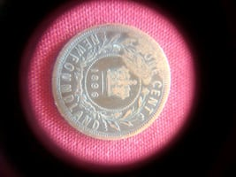 Rare Canadian cent coin from NEWFOUNDLAND 1896