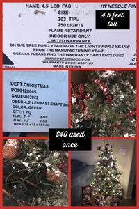 4.5 foot LED artificial Christmas tree