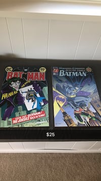 Two dc batman comic wall decor