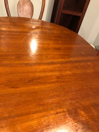 Solid wood table with 4 chairs/bookshelves  Virginia Beach