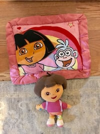 Dora pillow and plush toy in excellent condition  Ashburn, 20147