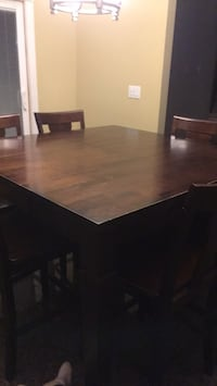 rectangular brown wooden table with four chairs dining set Manorville, 11949