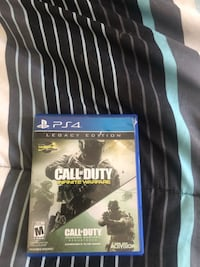 PS4 Call of Duty Infinite Warfare game case Fayetteville, 17222