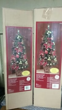New set of Decorated Christmas Trees 32inches tall Castro Valley, 94546