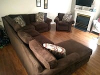 Sectional with Chaise and matching chair  Pike Creek