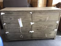 brown wooden 3-drawer chest Airdrie, T4B 3W3