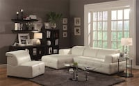 NEW Darby white contemporary sectional sofa couch  Miami