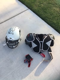 two black and white motorcycle helmets Bakersfield, 93314