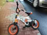 toddler's white and red bicycle 724 km