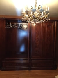 brown wooden cabinet $750 Italian made