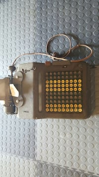 antique square gray and black cash register New Jersey, 07067