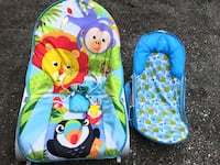 Infant/Toddler Rocker, Infant Bather and Pillow Pets Dream Lites Pup