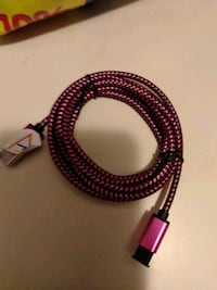 pink and black  charger cord Hanover, 17331