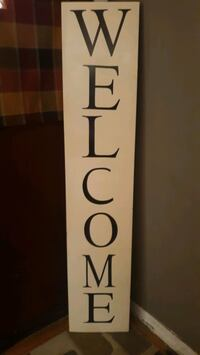 5ft welcome sign solid pine. handmade excellent quality outdoor vinyl. St. Peters, 63376