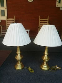 two white and brown table lamps Steelton, 17113