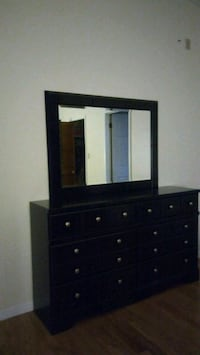 brown wooden dresser with mirror Apopka