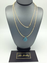 "14k real gold 26"" rope chain  Toronto, M6H 4B9"