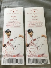 two white and red tickets PHILADELPHIA