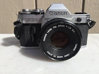 Canon AE 1 with FD f50mm 1.8 lens