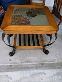 Stone and Steel End Table Charleston, 29414