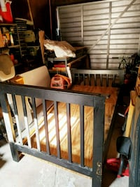 black and brown wooden bed frame Bakersfield, 93305
