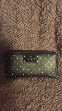 Black with white dots  kate spade leather wallet