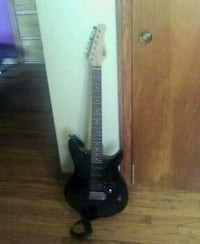 Black rogue rocketeer electric guitar