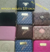 six assorted color leather wallets 2675 km