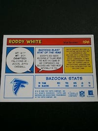 Roddy White Rookie Card Gaithersburg