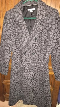 isaac Mizrahi belted double breasted trench coat sz 10 Wonder Lake, 60097