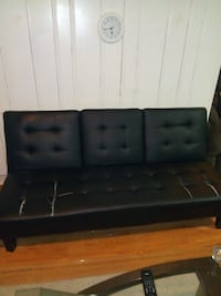 black leather tufted futons (2) Delaware County