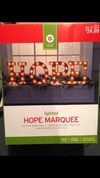 """Hope"" light marquee Morgantown, 26508"