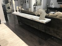 6 Foot Long Table - Mid Century Modern entry / sofa / Console Table - Industrial - Rustic - Grey Missouri City, 77459