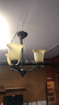 black and white uplight chandelier Stafford, 22554