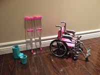 Doll wheelchair/crutch/cast set  Brampton