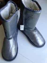 Grey Boots  for Winter or Fall with Sparkles   Oakville