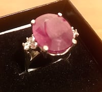Opulent Red Ruby / Topaz silver Ring Annapolis Junction, 20701
