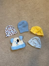 5 Piece Assorted Baby Hats Markham, L6B 0R9