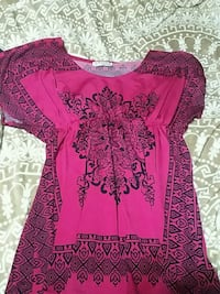 women's pink and black floral dress Cheyenne, 82001