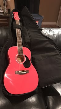 Pink acoustic guitar Surrey, V4A 7S2