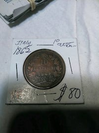 1862 bronze-colored Italy coin box Burnsville, 55306