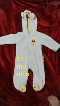 baby's white and red footie pajama Milton, 32571